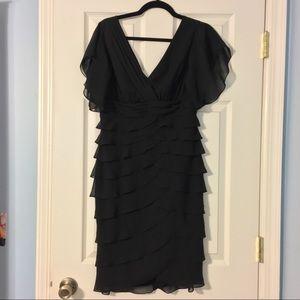 Deep V ruffle dress